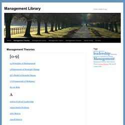 Management Theories | Management Library