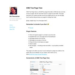 CMS Tree Page View – Page Management Plugin for Wordpress