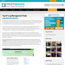Top 47 Log Management Tools