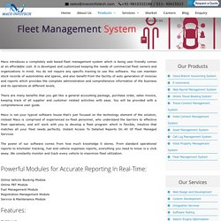 Transport Manager System Software - Maco Infotech