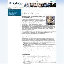 PM Training Courses > Knowledge Co.