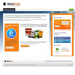 Mind Tools - Management Training, Leadership Training and Career Training
