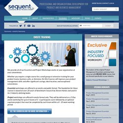 Product Management Training By Sequent Learning Networks