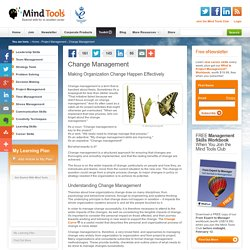 Change Management - Change Management Training from MindTools.com