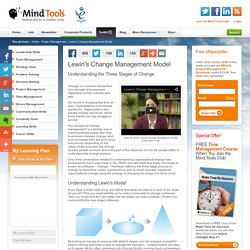 Lewin's Change Management Model - Change Management Training from MindTools