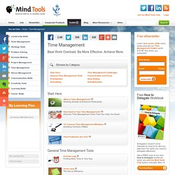 Time Management Training from MindTools