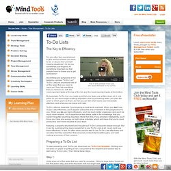 To-Do Lists from Mind Tools - Learn how to plan your time intell