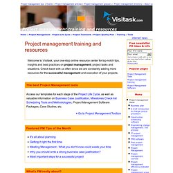 Project management training and resources