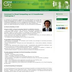 Le portail dédié au management des processus