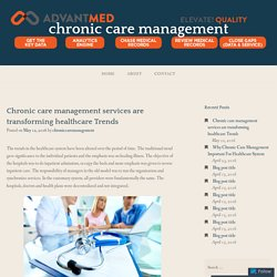 Chronic care management services are transforming healthcare Trends