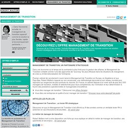 Management de Transition │ Emploi Management de Transition │ Carrière Management de Transition