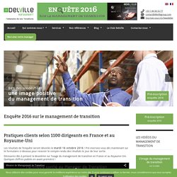 Enquête 2016 sur le management de transition - Delville Management