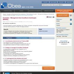 Formation management des travailleurs handicapés : Obea, conseil en management