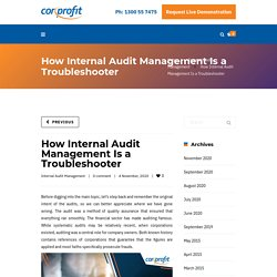 How Internal Audit Management Is a Troubleshooter