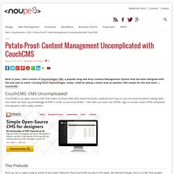 Potato-Proof: Content Management Uncomplicated with CouchCMS