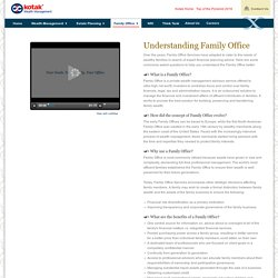 Understanding Family Office - Kotak Wealth Management