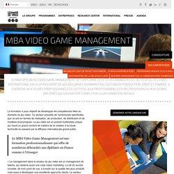 MBA Video Game Management - Pôle Universitaire Léonard de Vinci