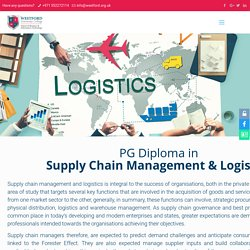 World Class Post Graduate Diploma in Supply Chain Management & Logistics