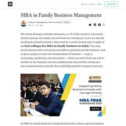 MBA in Family Business Management - Institute of Management, Nirma University - Medium