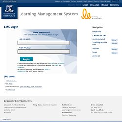 Home : Learning Management System : The University of Melbourne