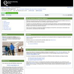 Home - Reference Management - LibGuides at Queen's University Belfast