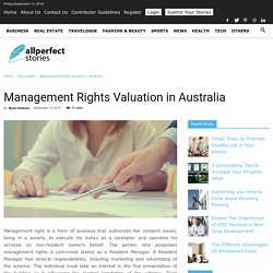 Management Rights Valuation in Australia
