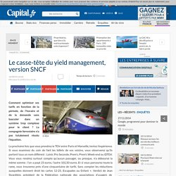 Le casse-tête du yield management, version SNCF