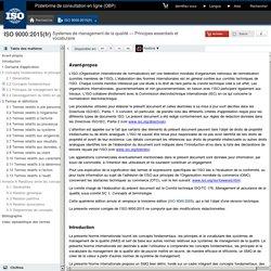 9000:2015(fr), Systèmes de management de la qualité — Principes essentiels et vocabulaire