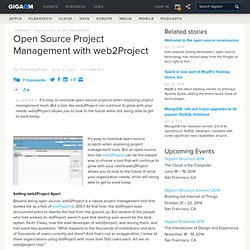 Open Source Project Management with web2Project