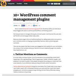 10+ WordPress comment management plugins