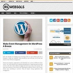 Make Event Management on WordPress a Breeze