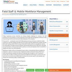 Field Staff Management Software - MobiOcean