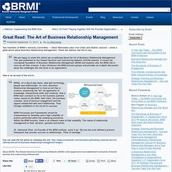 Great Read: Art of Business Relationship Management