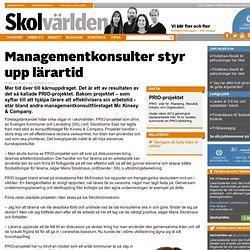 Managementkonsulter styr upp lärartid