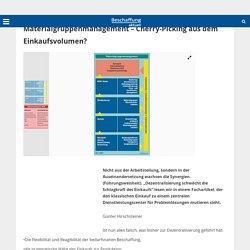 Managementtechniken und -konzepte Materialgruppenmanagement – Cherry-Picking aus dem Einkaufsvolumen? - Beschaffung aktuell
