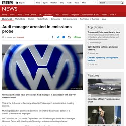 Audi manager arrested in emissions probe