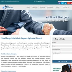 Store Manager Retail Jobs