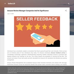 Amazon Review Manager Companies And Its Significance