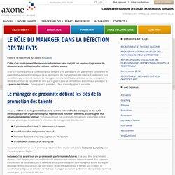 Le rôle du manager dans la détection des talents - Axone