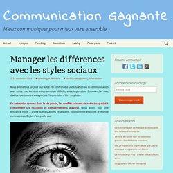 Manager les différences avec les styles sociaux