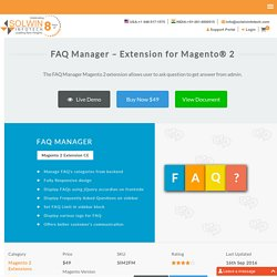 FAQ Manager - Magento 2 FAQ Extension