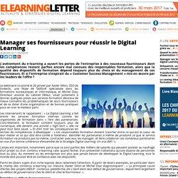 Manager ses fournisseurs pour réussir le Digital Learning
