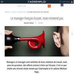 Le manager français écoute, mais n'entend pas