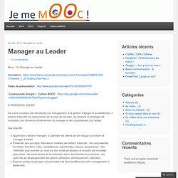 Manager au Leader