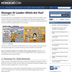Manager or Leader: Which Are You?
