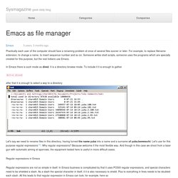 Emacs as file manager — IT daily blog, news, magazine, technologies