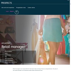 Retail manager job profile