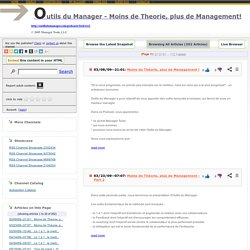Outils du Manager - Moins de Theorie, plus de Management!