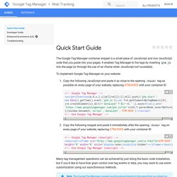Quick Start Guide - Google Tag Manager