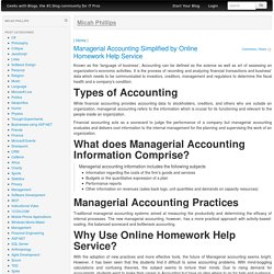 Managerial Accounting Simplified by Online Homework Help Service